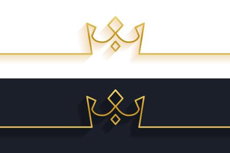 minimalist line crown concept background Vettoriali