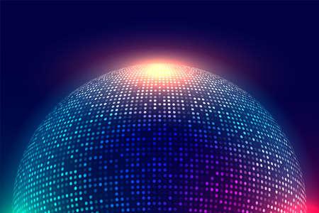 shiny disco ball music background Vettoriali