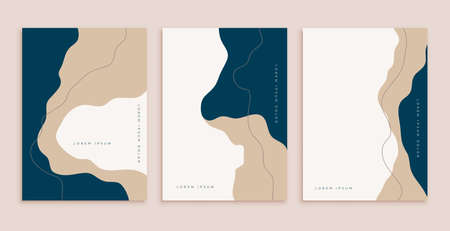 abstract minimal aesthetic modern contemporary poster design