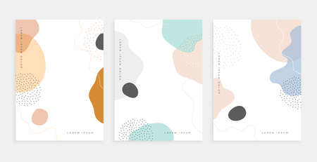 abstract fluid shape memphis style poster design templates