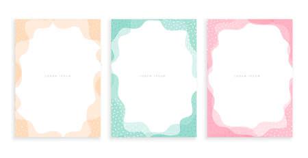 pastel color minimal memphis style poster design