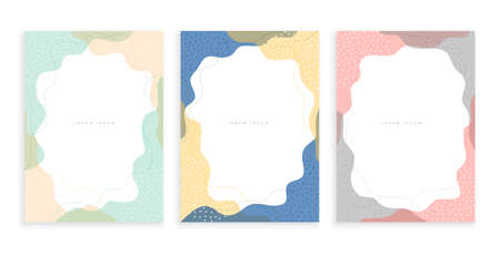 abstract memphis minimal posters template set