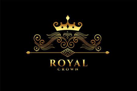 royal crown icon concept design Vettoriali