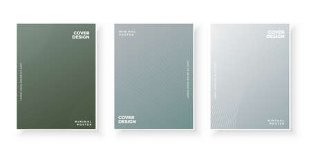 Abstract textured line gradient covers pattern design set