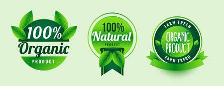 natural organic product green labels design