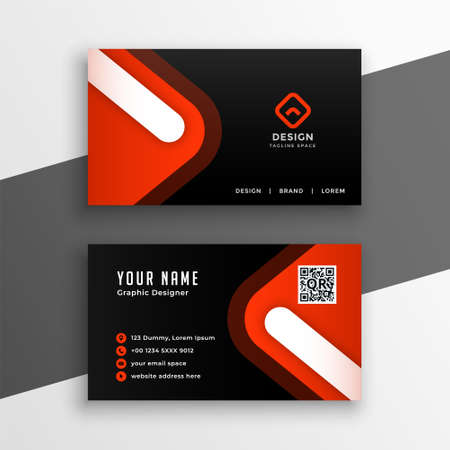 black and red modern business card design