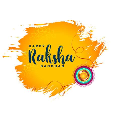 happy raksha bandhan watercolor abstract background