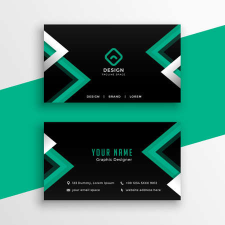 modern business card template with geometric shapes Vettoriali