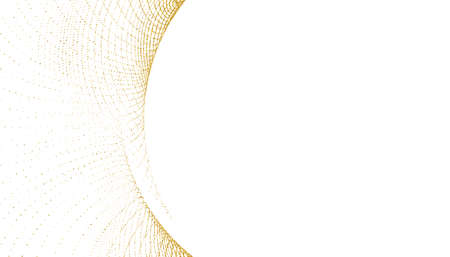 elegant white background with golden glitter curve shape Vettoriali