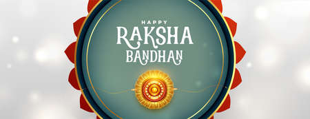 decorative raksha bandhan banner in indian style Vettoriali