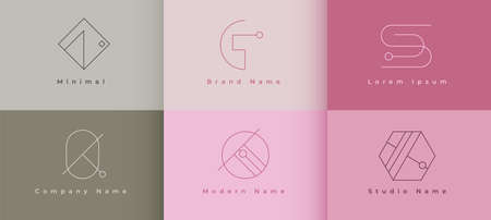 company minimal geometric shape style line  concept