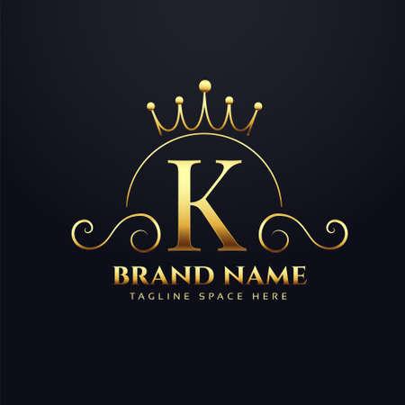 letter K  concept for your royal brand