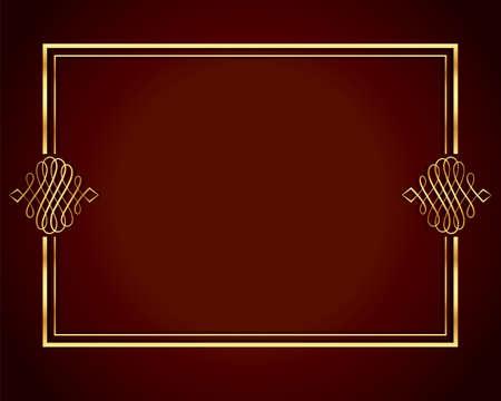 luxury frame design in golden color