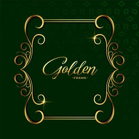 ornamental golden decoration floral luxury frame background