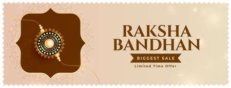 traditional rakha bandhan sale banner with rakhi design