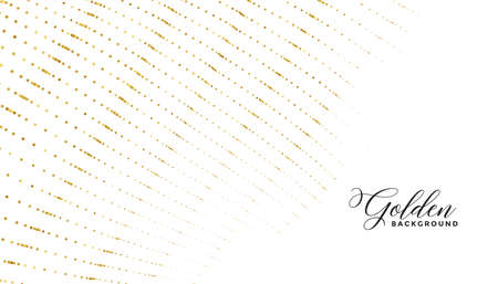 golden circle dots pattern lines luxury white background
