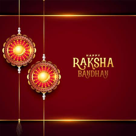 happy raksha bandhan realistic festival greeting design