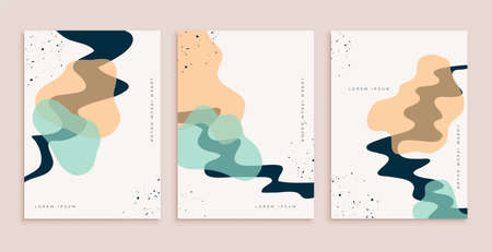 abstract hand drawn poster design set