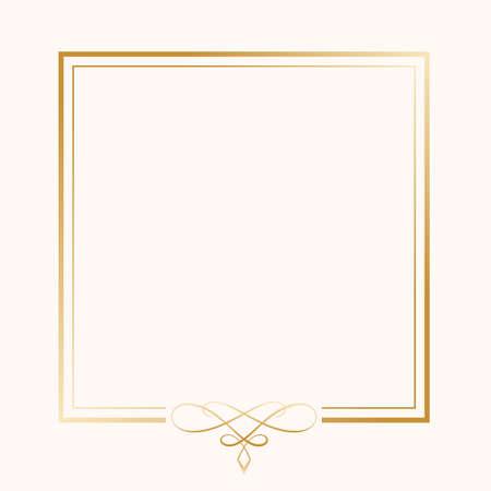 classic golden ornamental frame on white background