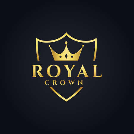 royal  concept design with crown shape Vettoriali