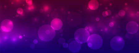 shiny bokeh sparkling lights vibrant banner Vettoriali