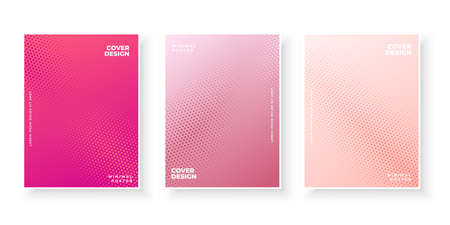 Colorful gradient covers with abstract texture pattern design set