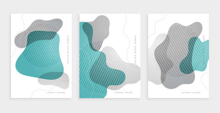 abstract cover page design with curve shapes Vettoriali