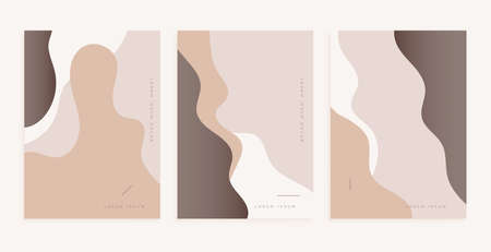 nice poster design with smooth lines in classic colors