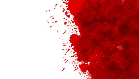 red blood splatter stain texture background Vettoriali