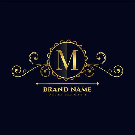 letter M luxury  concept design