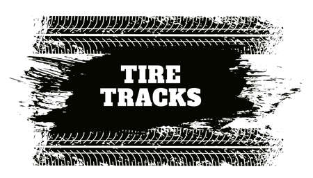 abstract tire track grunge texture background Vettoriali