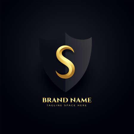 elegant letter S  royal concept design