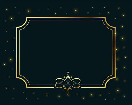royal golden frame luxury background with text space
