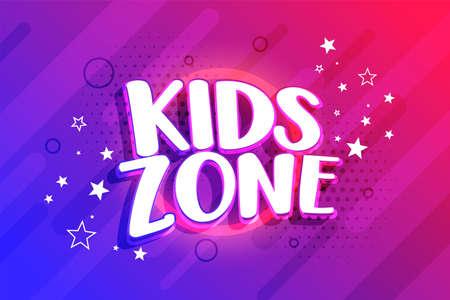 kids entertainment zone background design
