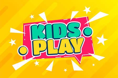 kids play fun zone cartoon background