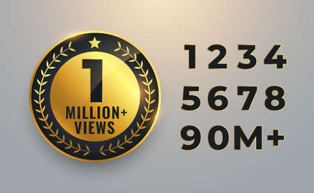 one million views count golden label