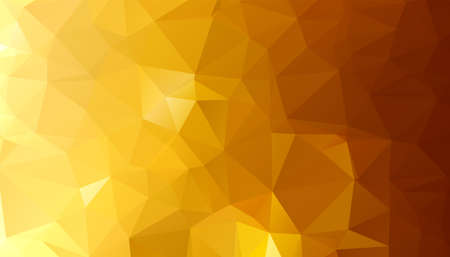 low poly golden triangle shapes background