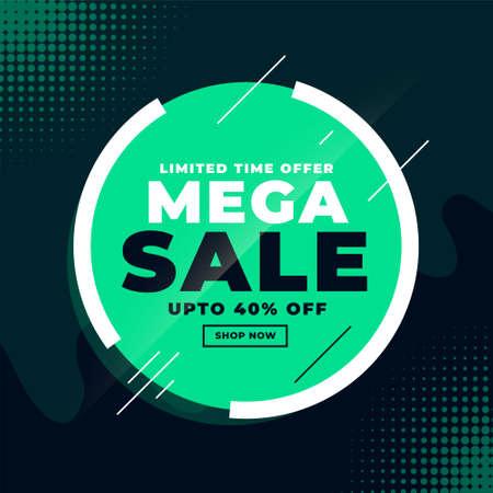 mega sale discount banner design