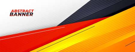 abstract sporty presentation banner with warm colors