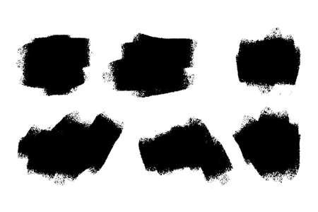 distressed grunge brush stroke set