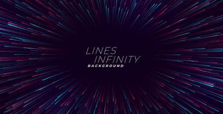infinity light trail burst background Иллюстрация