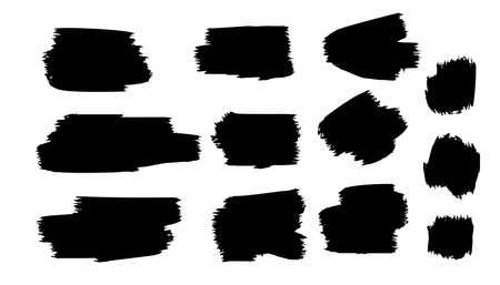 black grunge paint brush stroke template Иллюстрация