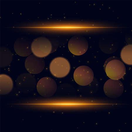 shiny bokeh sparkle golden background