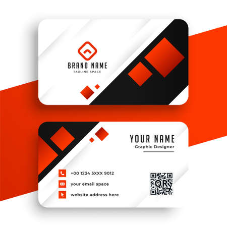 red and white modern business card template Иллюстрация