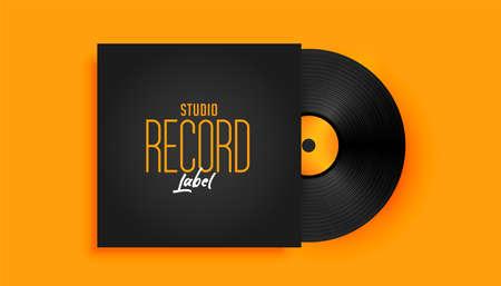 realistic music record label disk mockup Иллюстрация