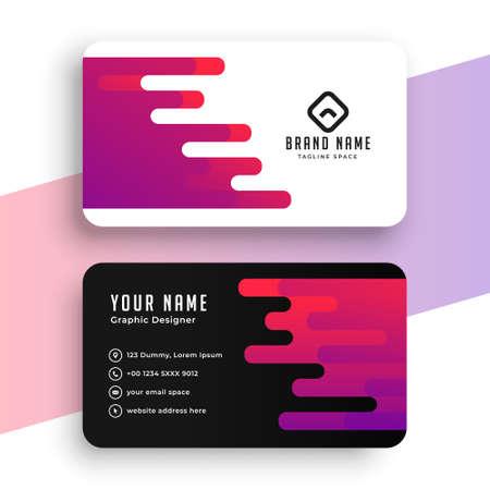 creative business card modern design