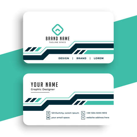 stylish professional business card template