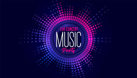 music frequency edm background design
