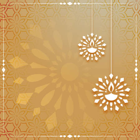 indian diya decoration festival card design