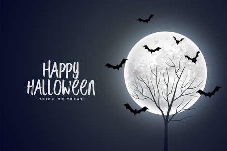 realistic happy halloween devil background